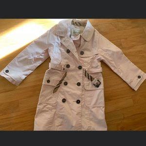 Toddler girl Burberry rain trenchcoat